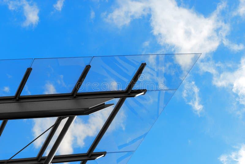 Архитектурноакустические детали стеклянного и стального здания стоковые фото