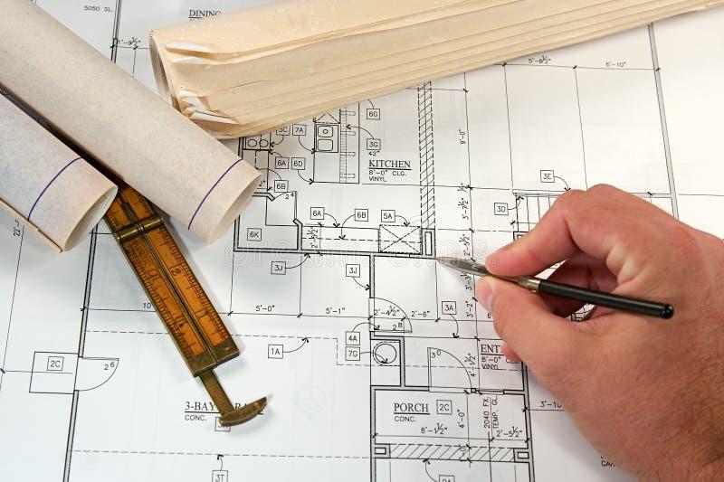 Download архитектурноакустические светокопии Стоковое Изображение - изображение насчитывающей притяжка, индустрия: 6869027
