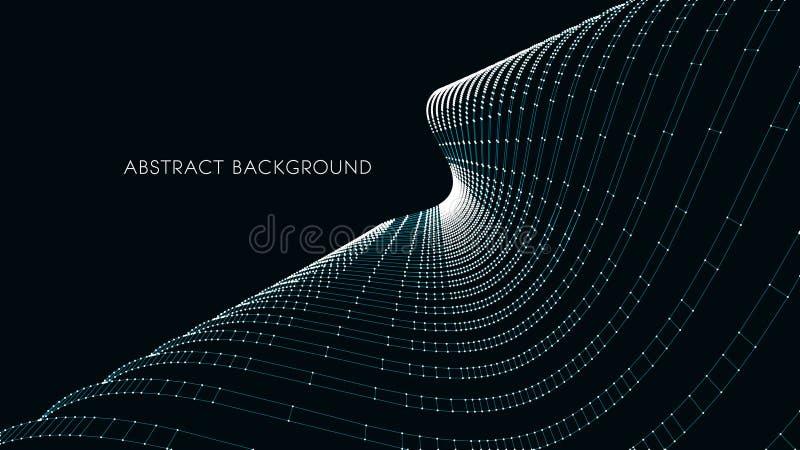 архитектурноакустический гараж предпосылки 3d подземный абстрактная иллюстрация вектора абстрактный футуристический дизайн 3D для иллюстрация вектора