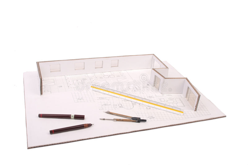 архитектурноакустический модельный маштаб стоковое изображение