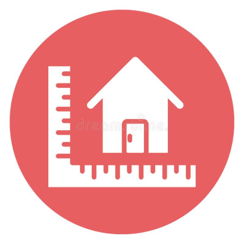 Архитектурноакустический проект изолировал значок вектора который может легко доработать иллюстрация вектора