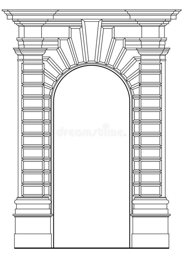 архитектурноакустический элемент иллюстрация вектора