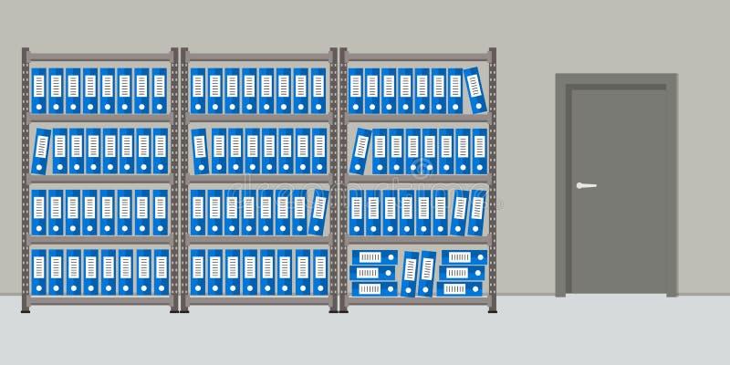архитектурноакустически Комната для хранения документов Интерьер бесплатная иллюстрация