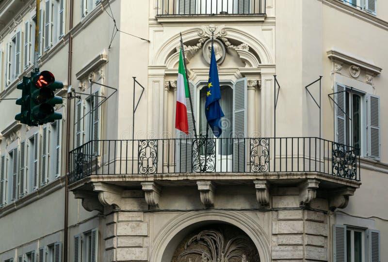 Архитектурноакустическое здание в улице Италии стоковое фото