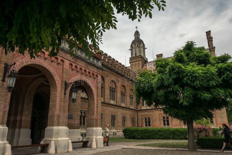 Архитектурный ансамбль национальных университета и резиденции столичного жителя в Chernivtsi, Украине стоковые фото