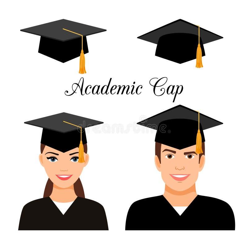 Аспиранты университета бесплатная иллюстрация