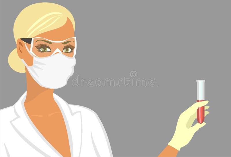 ассистентская маска лаборатории иллюстрация штока