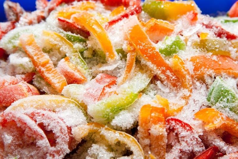 Замороженный крупный план овощей стоковые фотографии rf