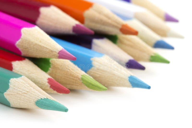 Ассортимент покрашенных карандашей стоковое фото rf