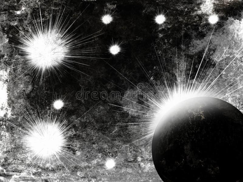 астероидный космос взрыва стоковое фото rf