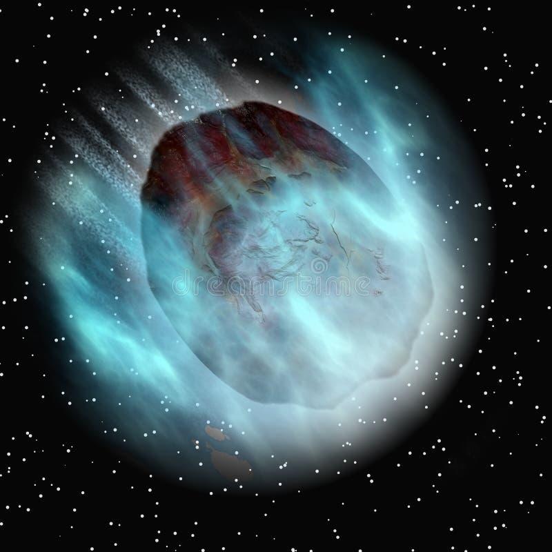 астероидный падая космос неба бесплатная иллюстрация
