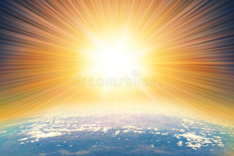 Астероидный глубокий удар стоковые изображения