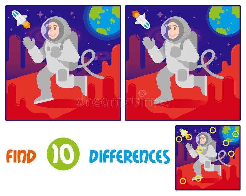 Астронавт дальше повреждает разницы в находки 10 бесплатная иллюстрация