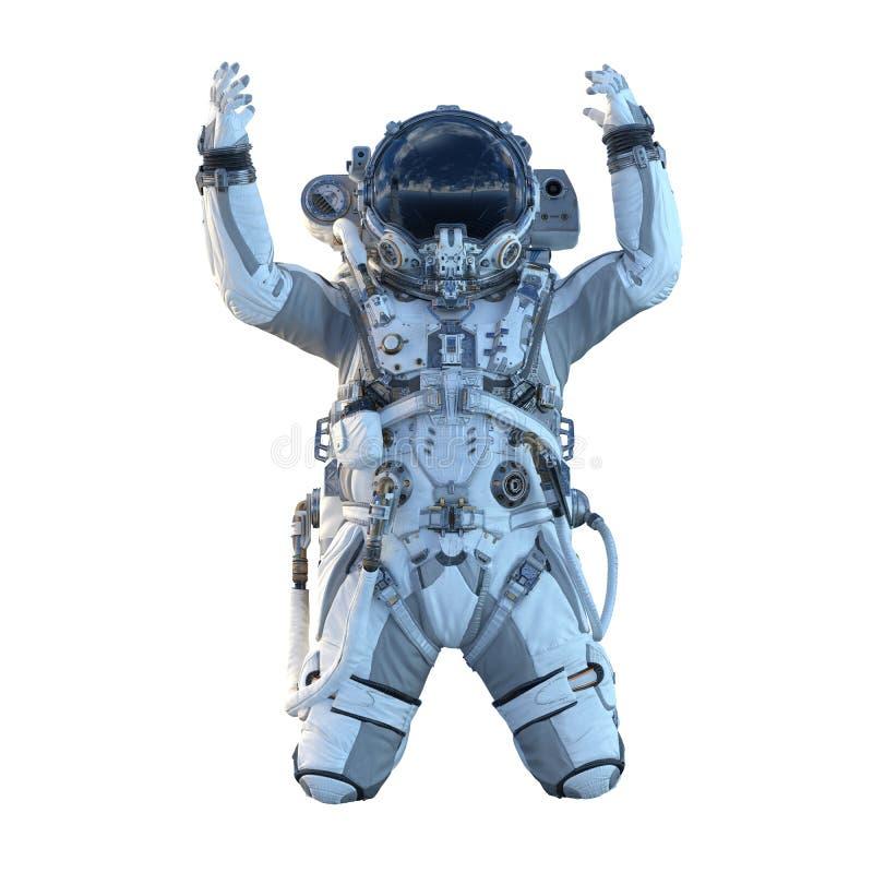 Астронавт на белизне Мультимедиа иллюстрация штока