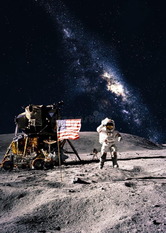 Астронавт на луне стоковая фотография