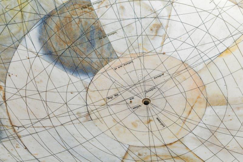 Астрономическая аппаратура на обсерватории Jantar Mantar стоковое фото rf
