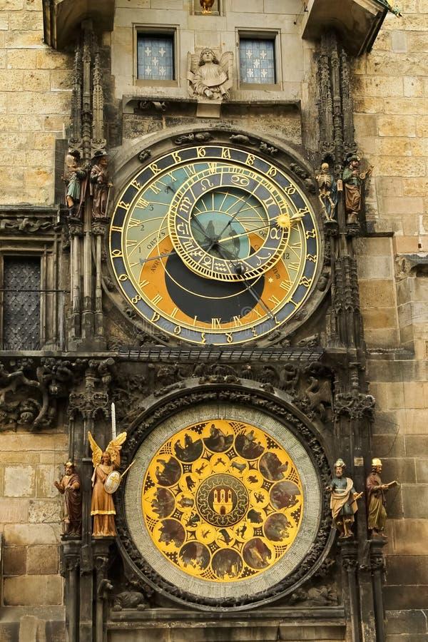 Астрономические часы в Праге стоковая фотография