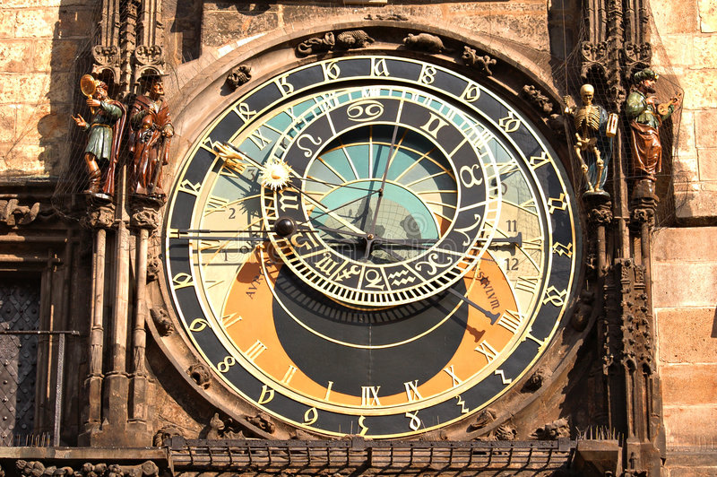 астрономические часы стоковая фотография