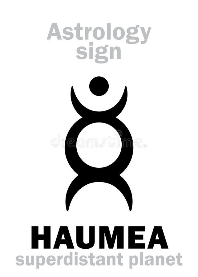 Астрология: планета HAUMEA бесплатная иллюстрация