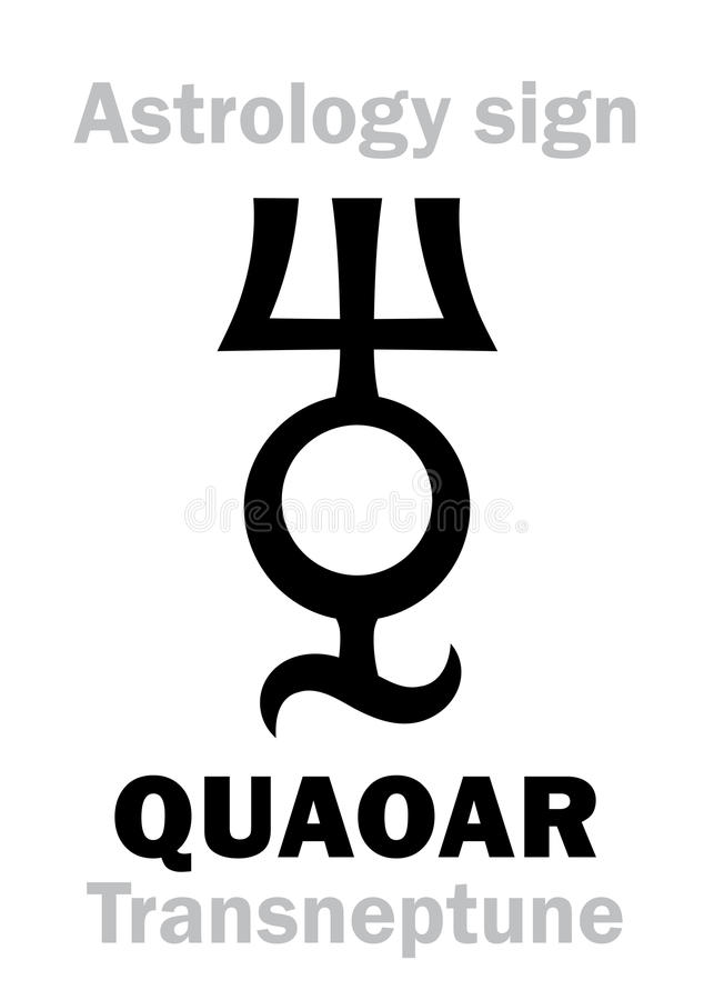 Астрология: planetoid QUAOAR иллюстрация штока