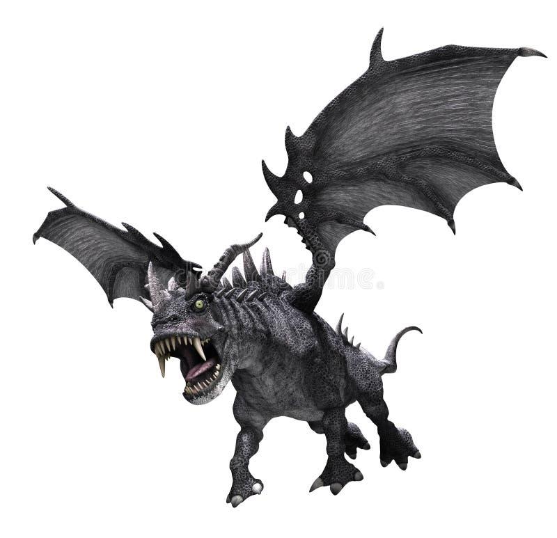 Атаковать дракона иллюстрация вектора