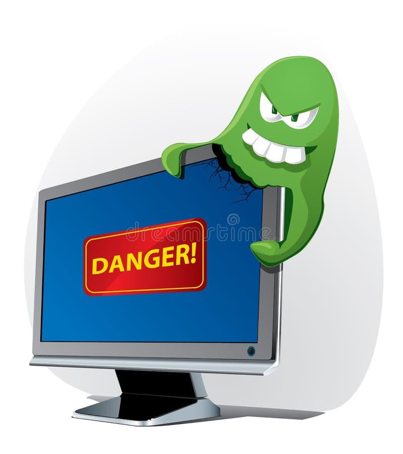 атакует вирус компьютера иллюстрация штока