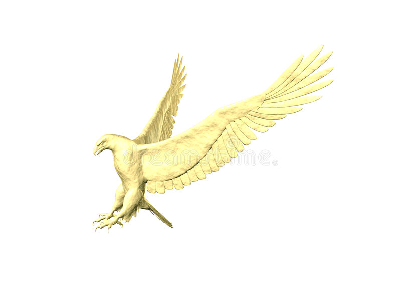 атакует песок орла Стоковое Изображение