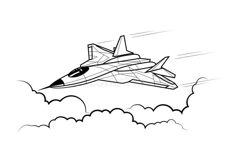 атакуя боец в небе бесплатная иллюстрация