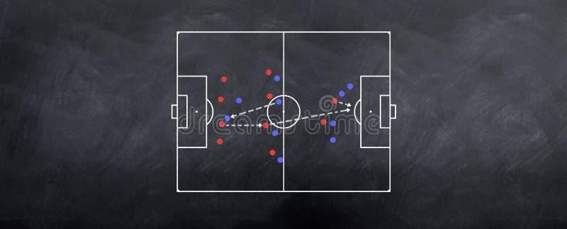 атакуя встречная стратегия футбола иллюстрация штока
