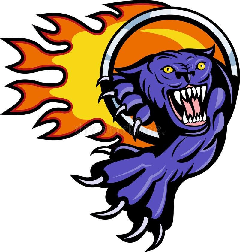 атакуя кольцо пантеры пожара иллюстрация штока
