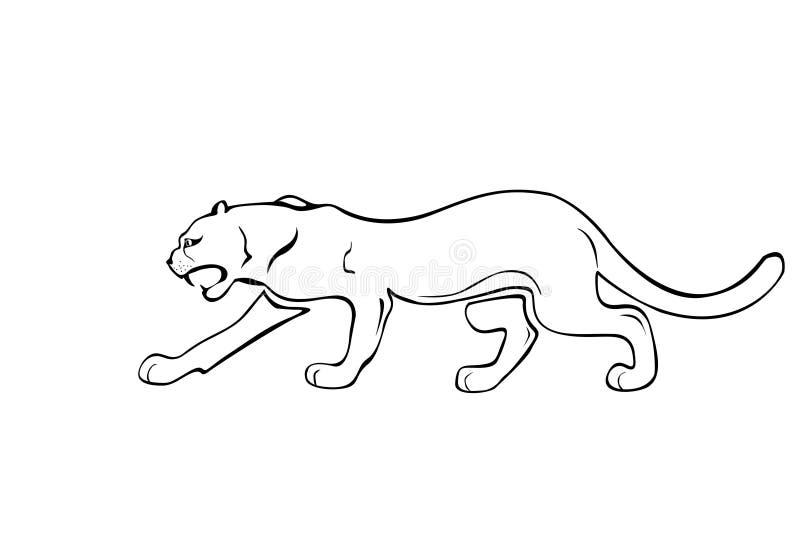 атакуя пантера одичалая бесплатная иллюстрация