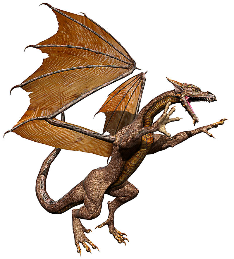атакуя olden дракон бесплатная иллюстрация