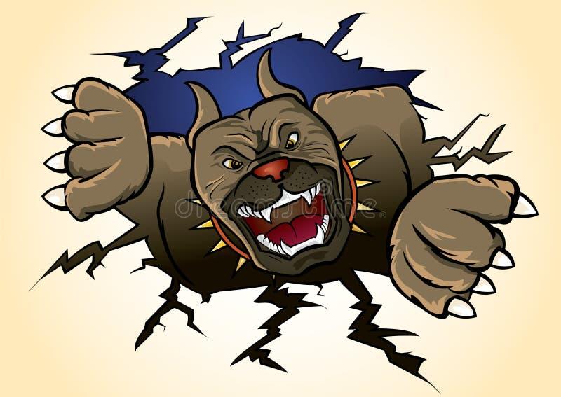 атакуя terrier ямы быка иллюстрация вектора