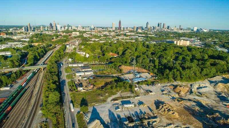Атланта городская от трутня стоковые фотографии rf