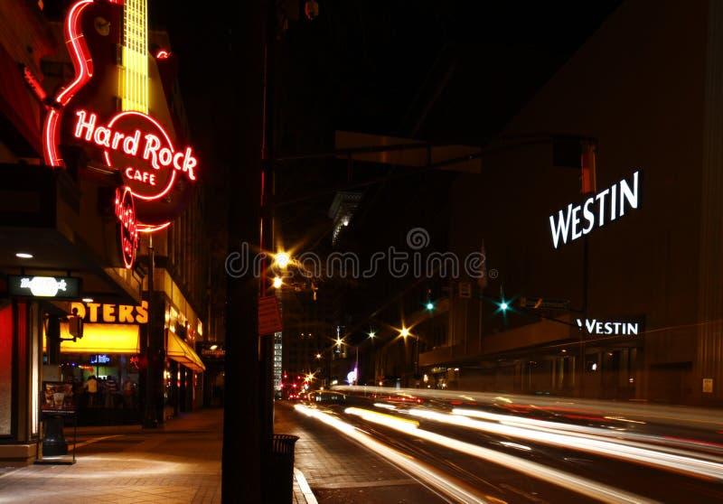 Атлант - тяжелый рок, Hooters и гостиница Westin стоковая фотография rf