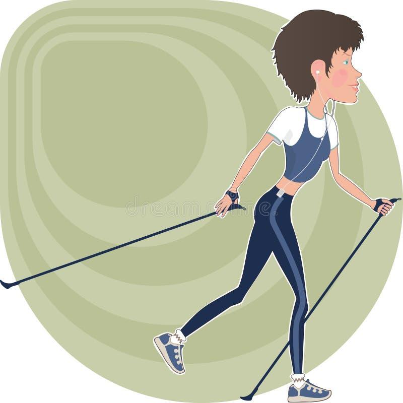 атлетическая девушка иллюстрация штока