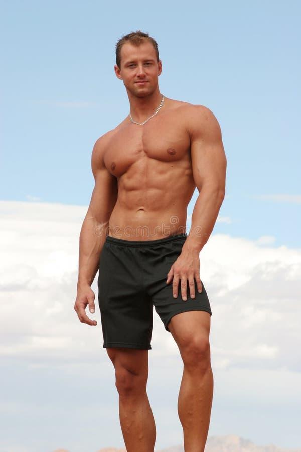 атлетический человек стоковые изображения rf