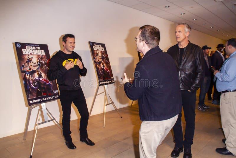 Атмосфера на царствовании суперменов дает премьеру стоковое изображение rf
