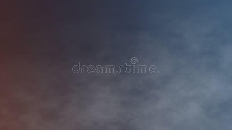 Атмосферический дым, туман, огонь, ровное движение, современная абстрактная анимация 3d предпосылки представляет иллюстрация штока