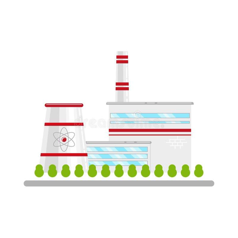 Атомная электростанция, источник энергии иллюстрация вектора