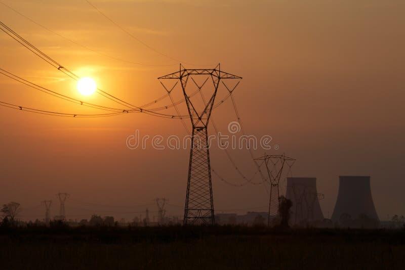атомная электростанция стоковое изображение