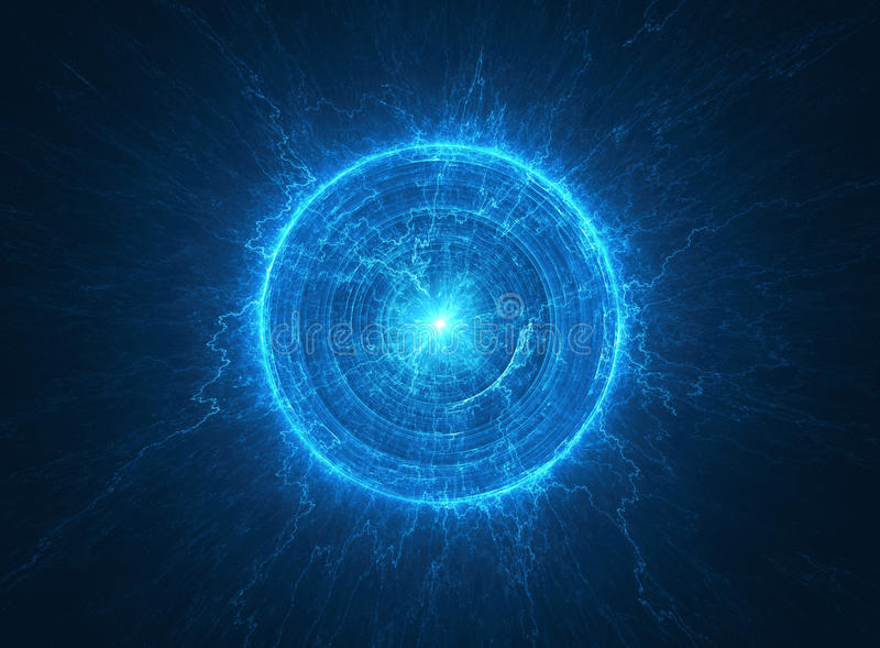Атомное радиоактивное ядерное ядр иллюстрация вектора
