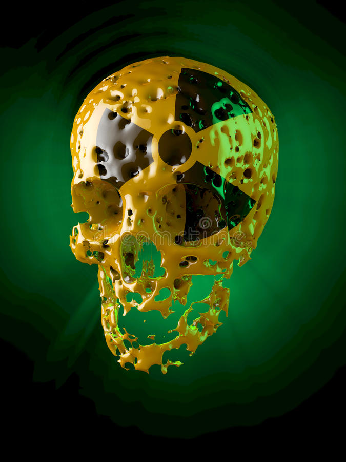 Атомный череп, тухлый иллюстрация вектора
