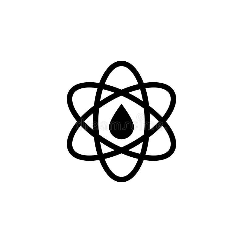 Атом, значок масла на белой предпосылке Смогите быть использовано для сети, логотипа, мобильного приложения, UI UX бесплатная иллюстрация
