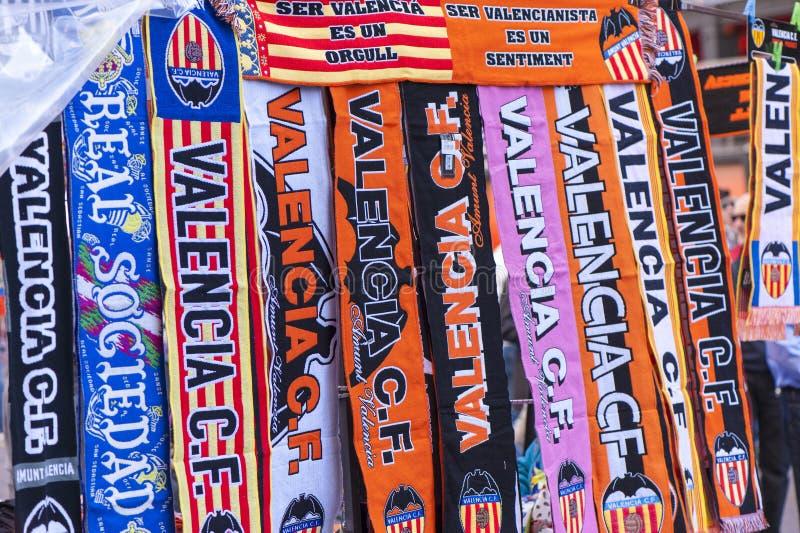 Атрибуты вентилятора FC Валенсии стоковое фото rf