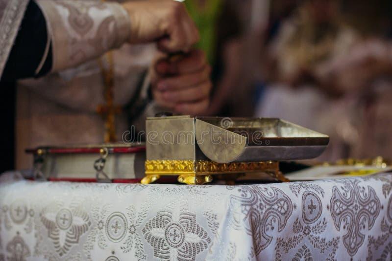Атрибуты в православной церков церков стоковое фото