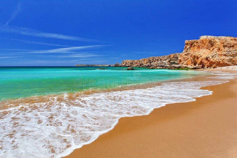 Атлантический океан - Sagres Алгарве, Португалия стоковые фото