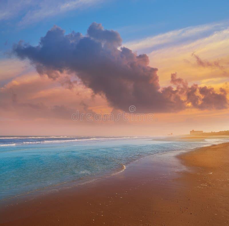 Атлантический пляж в Джексонвилле Флориды США стоковая фотография