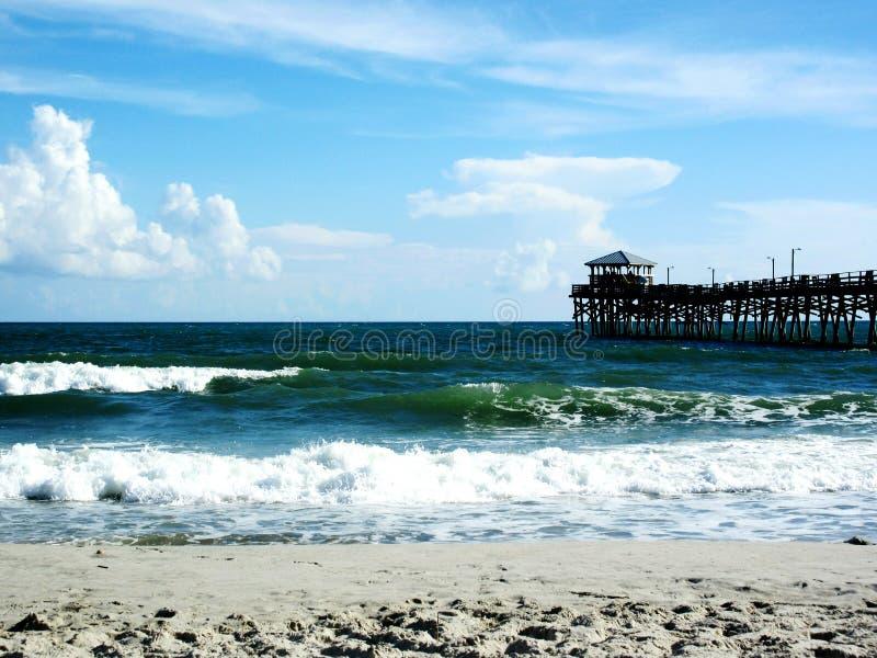 Атлантический пляж, Северная Каролина стоковое изображение