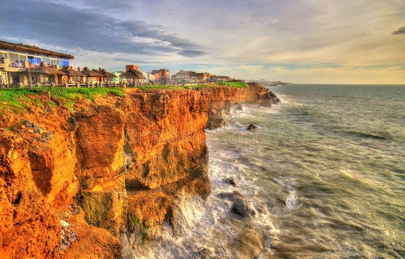 Атлантическое побережье на городке Safi в Марокко стоковые фотографии rf